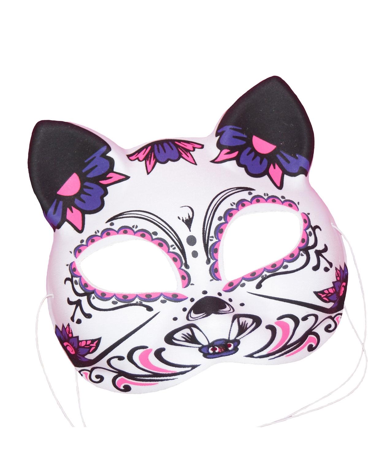 Black Light Cat Mask