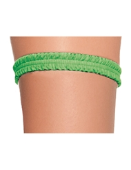 RUCHED LEG GARTER GREEN