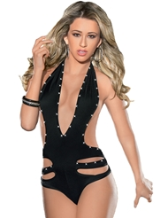 STRAPPY JEWELED BODYSUIT