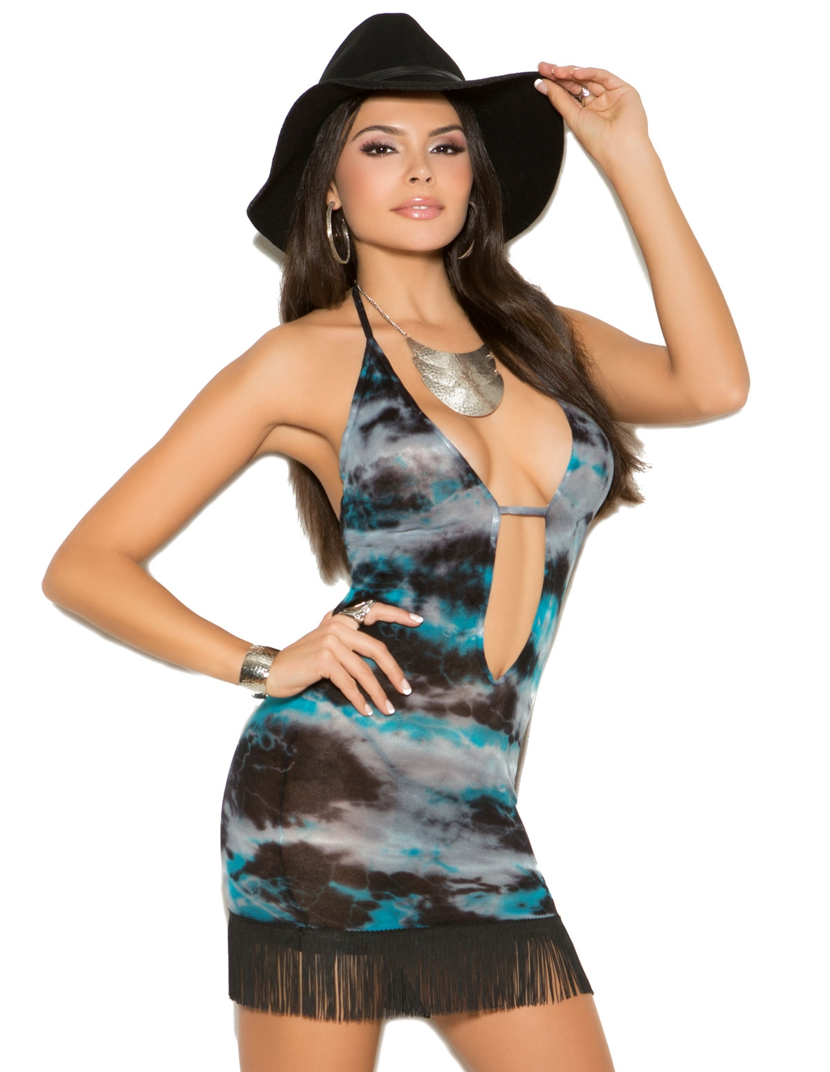 Tie-Dye Cowgirl Opaque Dress