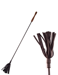 ROUGE RIDING CROP WITH WOOD HANDLE