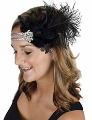 OSTRICH FEATHER HEADBAND
