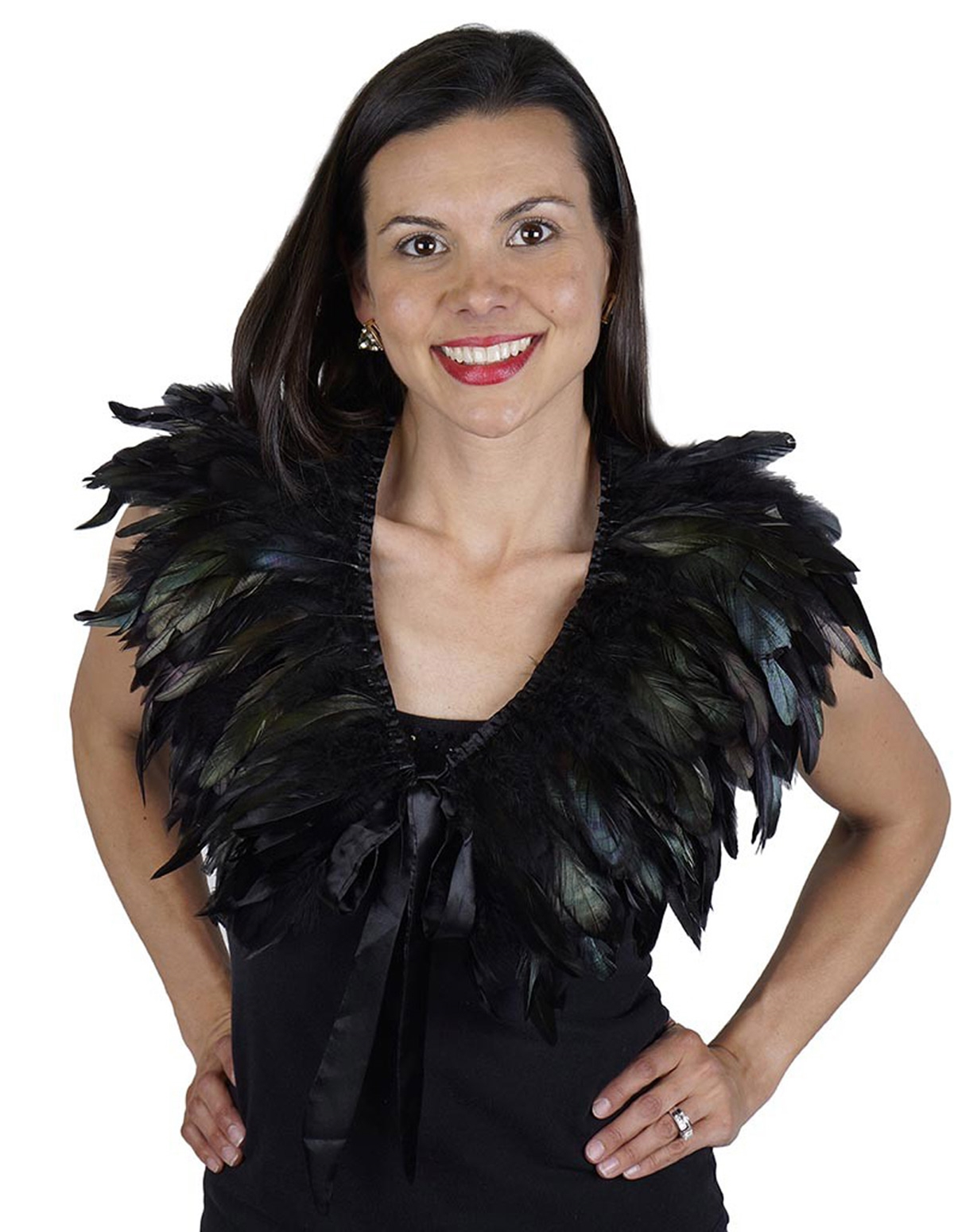 Rooster Coque Feather Cape