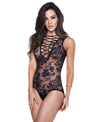 LACED UP IN LACE TEDDY