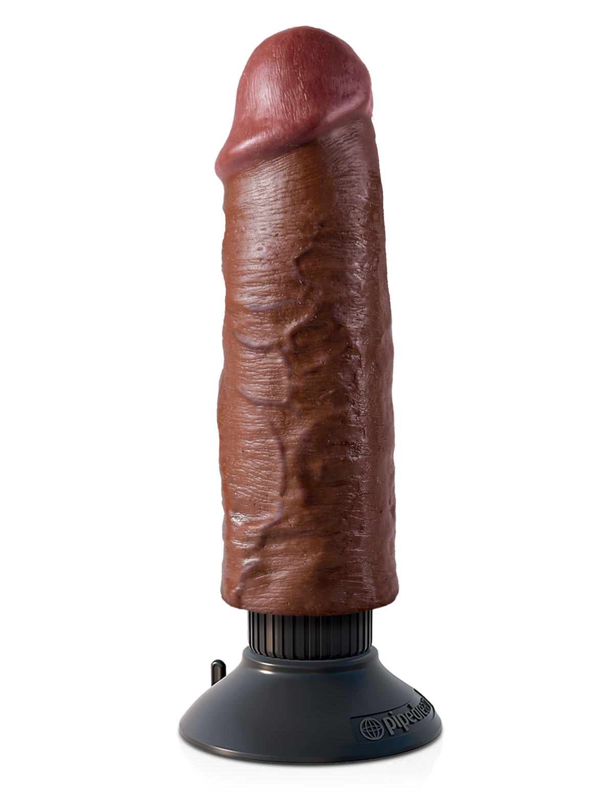 King Cock 6-Inch Vibrating Cock - Brown