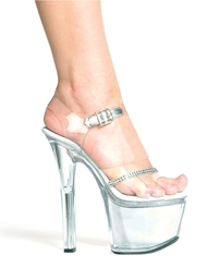 JEWEL CLEAR PLATFORM STILETTOS
