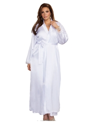 LONG SATIN ROBE - PLUS