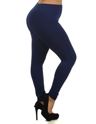 SEAMLESS NAVY BLUE LEGGINGS - PLUS