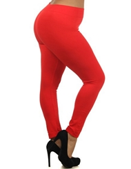 SEAMLESS RED LEGGINGS - PLUS
