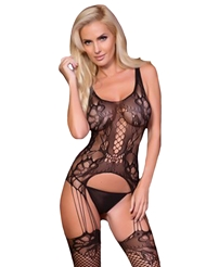 KILLER LEGS FISHNET & LACE BODY STOCKING