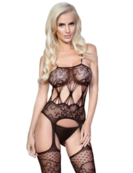 KILLER LEGS SHEER LACE BODY STOCKING