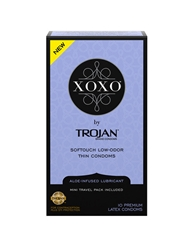 XOXO CONDOMS BY TROJAN 10-PACK