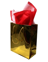 MEDIUM GOLD GIFT BAG