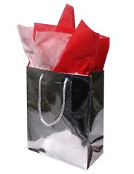 MEDIUM SILVER GIFT BAG