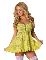 BUTTERCUP BABYDOLL & CUTOUT PANTY SET - PLUS