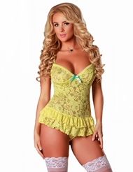 BUTTERCUP RUFFLE TEDDY - PLUS