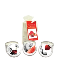EDIBLE MINI MASSAGE CANDLE THREESOME