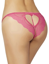 LACE HEART CROTCHLESS PANTY