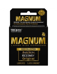 TROJAN MAGNUM GOLD COLLECTION 3-PK