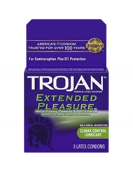 TROJAN EXTENDED PLEASURE CONDOMS 3-PK