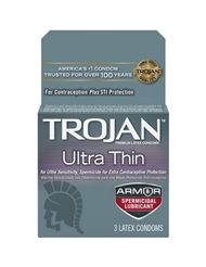 TROJAN ULTRA THIN ARMOR CONDOMS 3-PACK