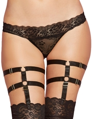SATIN LEG HARNESS GARTERS
