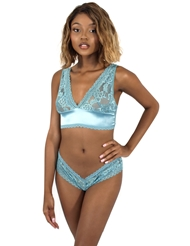 YVETTE SATIN & LACE BRA SET