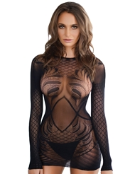 FISHNET DRESS BODY STOCKING