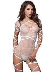 FISHNET STRAPPY TEDDY