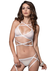 WRAP AROUND FISHNET SET
