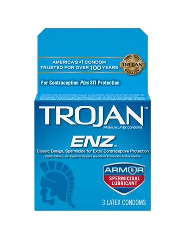 TROJAN ENZ ARMOR CONDOMS 3 PACK