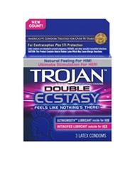 TROJAN DOUBLE ECSTASY 3 PACK CONDOMS
