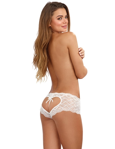 CROTCHLESS OPEN BACK HEART PANTY