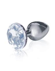 BEJWELED STEEL ANAL PLUG - DIAMOND