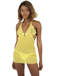 TIE BACK CHEMISE YELLOW