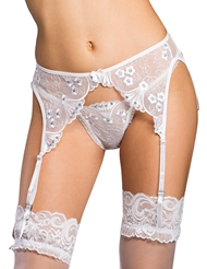 SPARKLING SEQUIN EMBROIDERED GARTER BELT