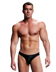 ENVY WET LOOK LOW RISE THONG