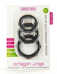 OCTAGON COCK RINGS 3 PACK