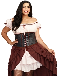 SALOON GAL COSTUME - PLUS