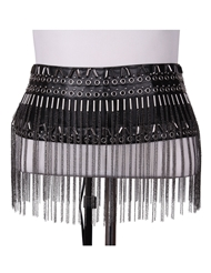 FRINGED METAL SKIRT