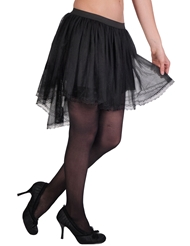 TWO LAYER MESH LACE TULLE PETTICOAT