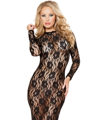 BEAUTEOUS LACE GOWN - ALL SIZES