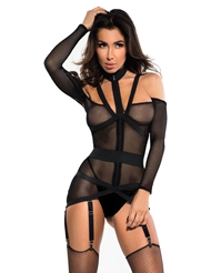 SEE THROUGH ME CORSELETTE CHEMISE