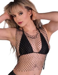 RHINESTONE CROCHET TOP