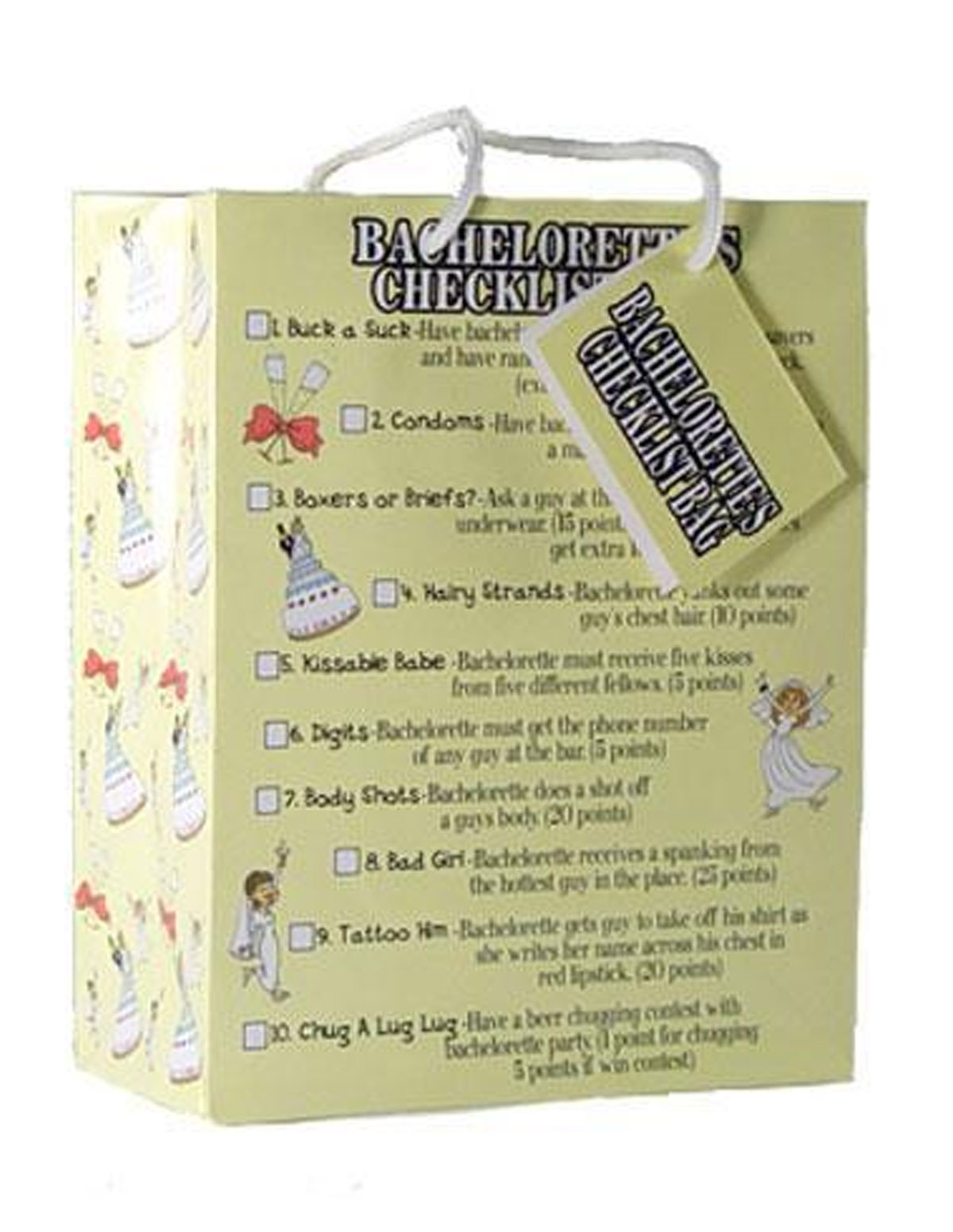 Bachelorette Checklist Bag