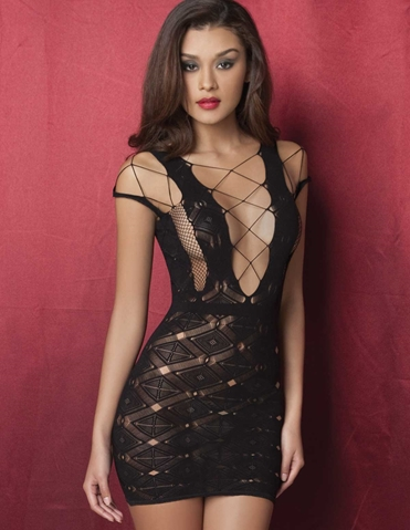 DIAMOND NET DRESS