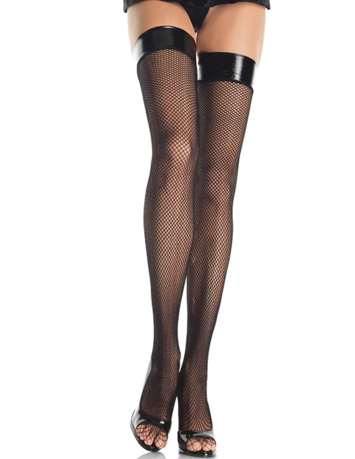 Fishnet Stocking W/Vinyl Top