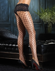 FENCE NET PANTYHOSE WITH LACE SHORT