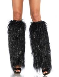 SPARKLY FUR LEG WARMER