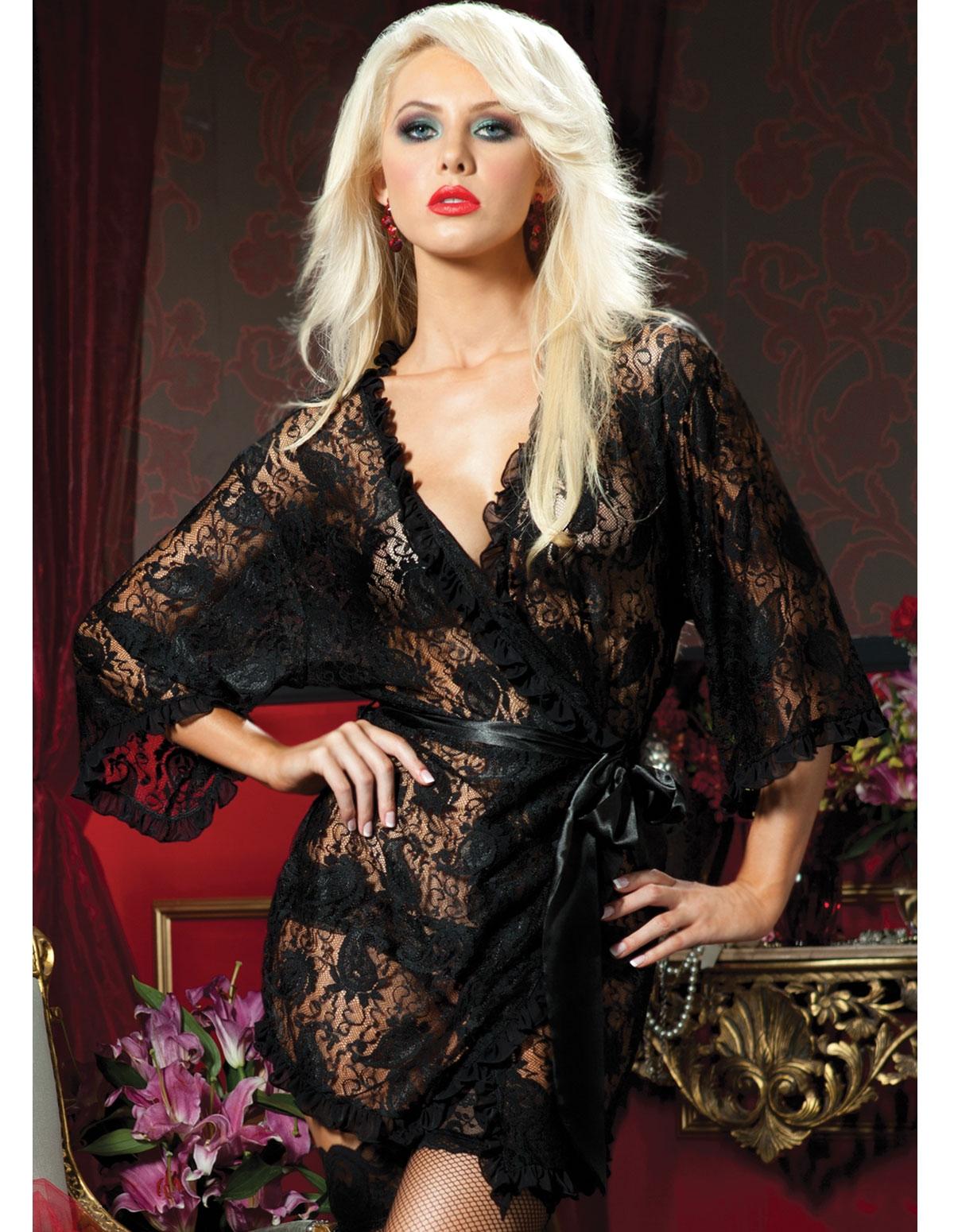 Paisley Lace Robe